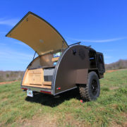 wide Off Road Teardrop Expedition Trailer Rear