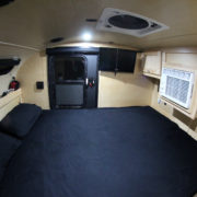 Expedition Trailer Interior Birch Queen Bed AC TC